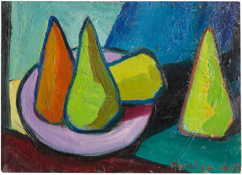 Rosanna Forino, 1971, Composizione, 35x25, olio su cartone telato