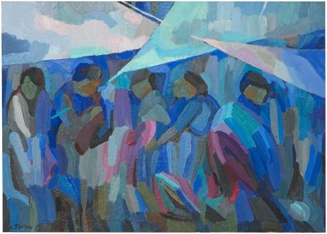 Rosanna Forino, 1976, Mercato al Messico, 50x70, olio su tela