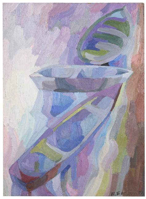 Rosanna Forino, 1978, Le barche, 40x55, olio su cartone
