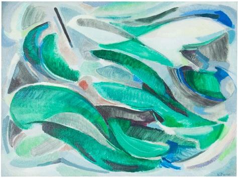 Rosanna Forino, 1979, Movimento nel mare, 80x60, olio su tela