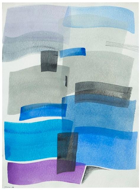 Rosanna Forino, 1998, Elementi liquidi, 76x57, acrilici su carta indiana