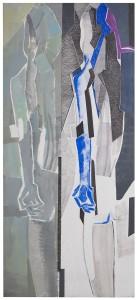 Rosanna Forino, 2006, Corps et ame, 70x165, tecnica mista