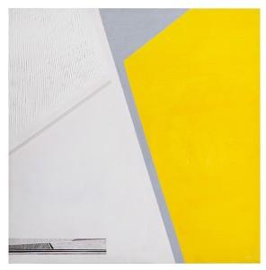 Rosanna Forino, 2007, Spazio giallo, 60x60, acrilici e inchiostri, collage