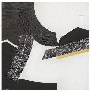 Rosanna Forino, 2010, Colore nero, 70x70, acrilici, inchiostri, oro su tela