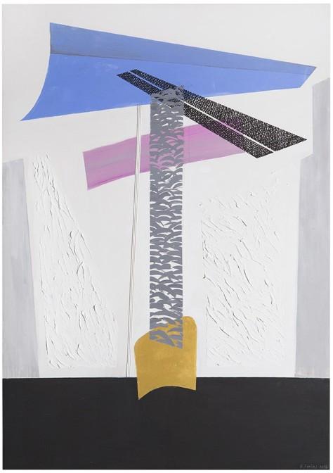Rosanna Forino, 2014, Colonna n 3, 80x115, acrilici e inchiostri su tela