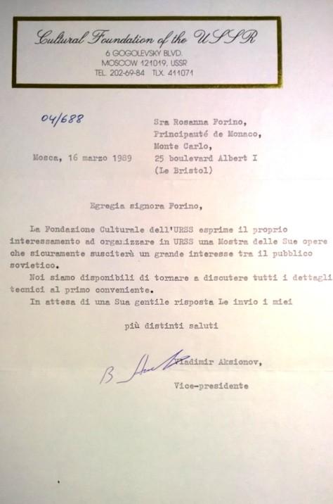 Rosanna Forino, Mosca 1990