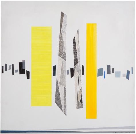 Rosanna Forino, Scansioni Continue, 2004, 60x60 cm, acrilici e inchiostri