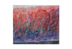 Bosco rosa, olio su tela, 50x50 1976 Rosanna Forino