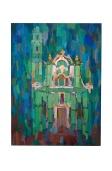 Chiesa Ligure, Olio su tela, 50x70 1977 Rosanna Forino