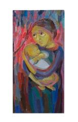 la-madre-205x42-olio-su-tavola-1963-rosanna-forino
