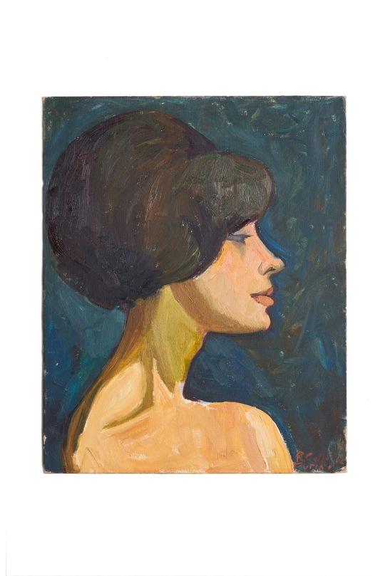 profilo-femminile-50x40-1962-olio-su-cartone-rosanna-forino