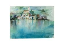Sul lago di Como acquarello su carta, 43x35 1071 Rosanna Forino