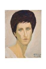testa-di-donna-bianca-30x40-cartone-telato-1962