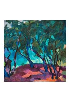 Vento fra gli ulivi, olio su tela, 80x80 Rosanna Forino