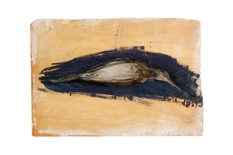 il-picchio-morto-olio-su-cartone-1959-35x25-rosanna-forino