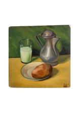la-caffettiera-37x37-olio-su-cartone-1948-rosanna-forino