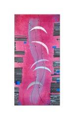 Assenza di gravità - 35x70 - 1990 - inchiostri su tela - rosanna forino
