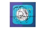 Astro celeste - 50x50 - 1993 - acrilici e inchiostri - rosanna forino