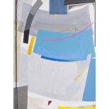 Attraversamento inquietante - 70x100 - 2003 - acrilici e collage - rosanna forino