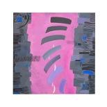 Attraverso le mura - acrilici e inchiostri su tela - 50x50 - 1988 - Rosanna Forino
