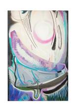 Composizione con sole, 20x120 olio su tela, 1986