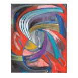 Cosmico - 65x80 - 1985 - olio su tela - Rosanna Forino