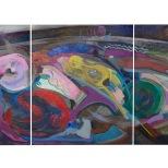 Elementi vitali - olio su tela - 1984 - 300x120 - Rosanna Forino