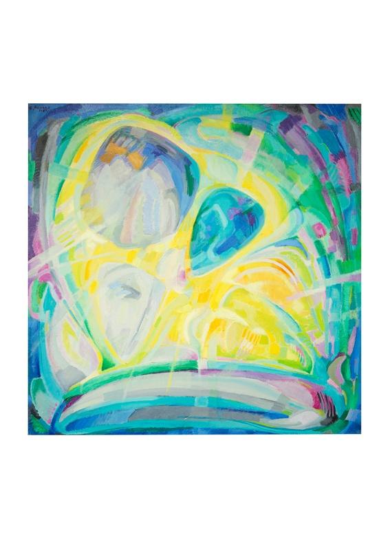 Esplosione, olio su tela, 100x100 1983 Rosanna Forino