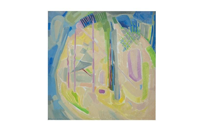 Fantasia, Olio su tavola, 70x70 1980 Rosanna Forino