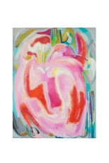 Giardino in rosso, 60x80 olio su tela 1980 ROsanna Forino