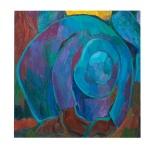 Il messicano, olio su tela, 80x80 1984 Rosanna Forino