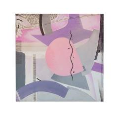 Il serpentello sublime - 80x80 - 1994 - acrilici e inchiostri - Rosanna Forino