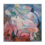 La donna Grassa, 70x70 olio su tela, 1985 Rosanna Forino