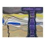 Lacrime nere - 60x80 - 1991 - olio e inchiostri su tela - Rosanna Forino