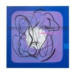 Meditazion astrale - 50x50 - acrilici e inchiostri - 1993 - rosanna forino