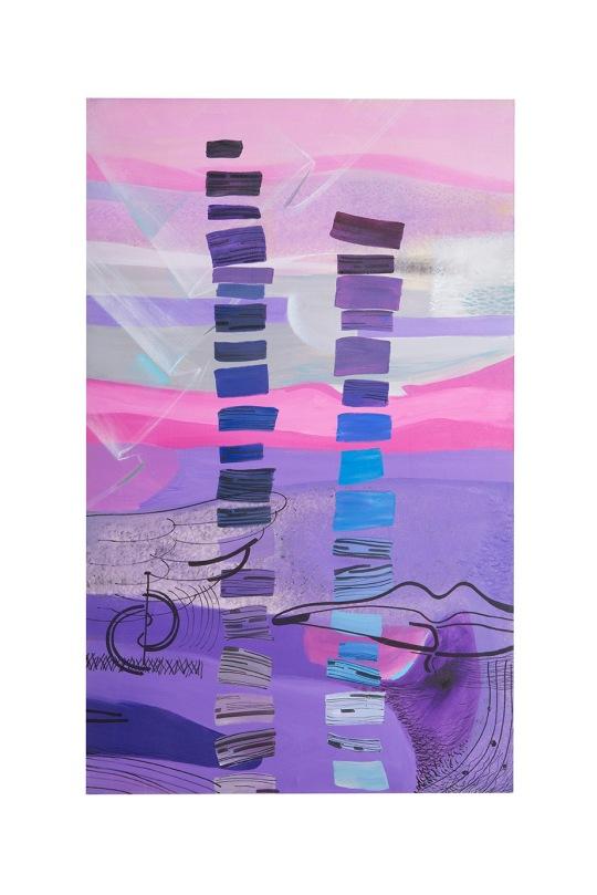 Memorie dell'inconscio - 70x115 - 1991 - acrilici e inchiostri su tela - Rosanna Forino