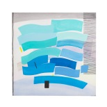 oceano 100x100 Rosann Forino 1998 acrilico inchiostri su tela b