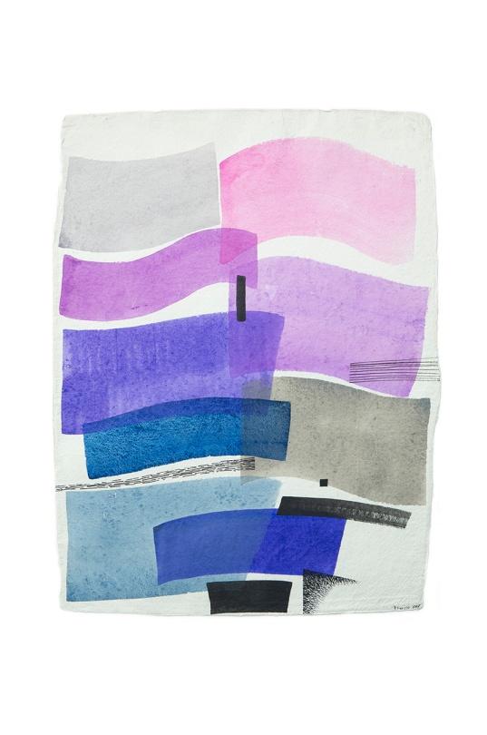 oceano alba rosa 60x80 Acrilici e inchiostri su carta indiana Rosanna Forino 1998 b
