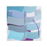 Oceano - Mattino freddo - 1999 - 80x80 - acrilici e inchiostri - Rosanna Forino