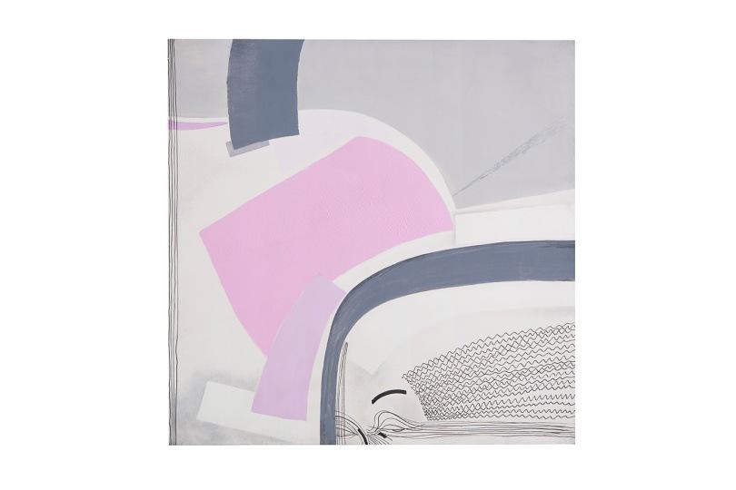 oltre l'immagine - 1995 - 80x80 - acrilici e inchiostri - Rosanna Forino