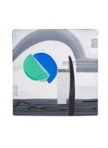 piccola composizione 2 acrilici e inchiostri su tela 1996 - 20 x 20 Rosanna Forino b