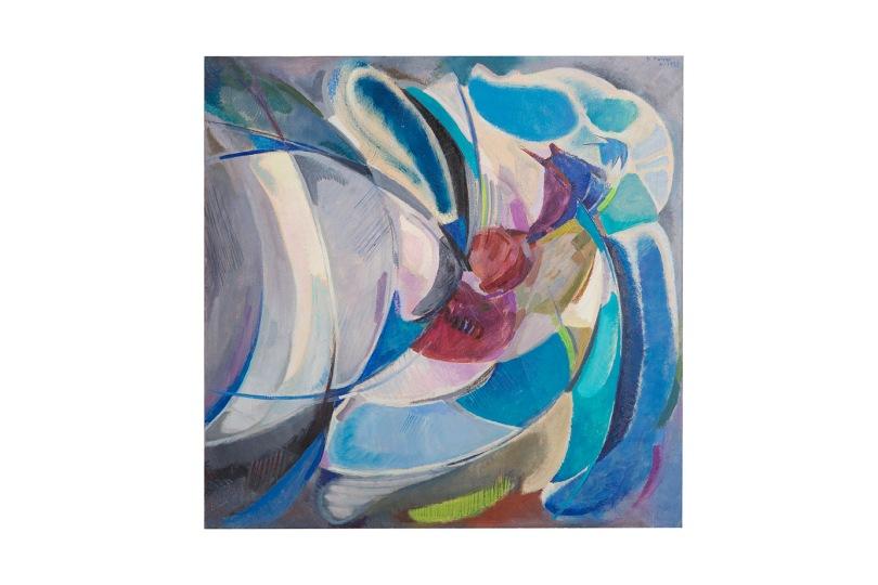 Sconto di situazioni - olio su tela - 80x80 - 1985 - Rosanna Forino