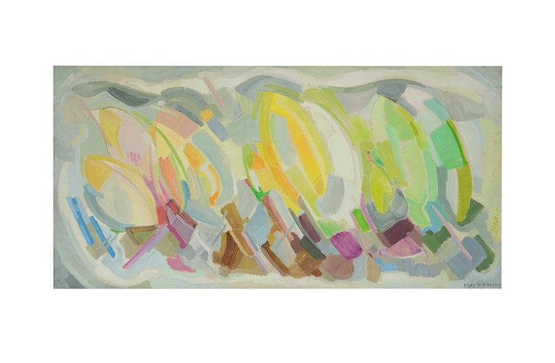 Sequenza, Aclilico su tela, 1981, Rosanna Forino