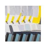 Sequenze figurative - 60x60 - 2005 - acrilici inchiostri e collage - Rosanna forino