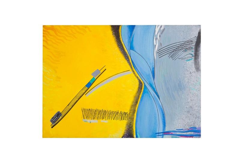 Spazio Bipartito - acrilici e inchiostri - 79x50 - 1989 - Rosanna Forino